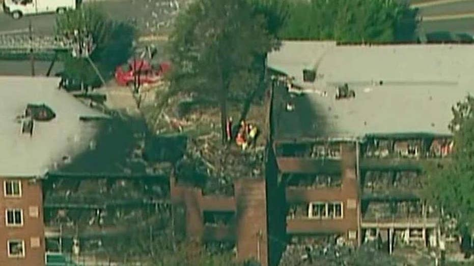 Teams searching debris after Maryland apartment explosion