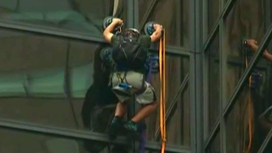 Eric Shawn reports: The Trump Tower climber