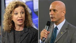 """Debbie Wasserman Schultz is fighting Tuesday to hold onto her House seat after losing her post atop the Democratic National Committee last month over a leaked email scandal, amid warnings from her primary challenger that she's taken her base """"for granted."""""""