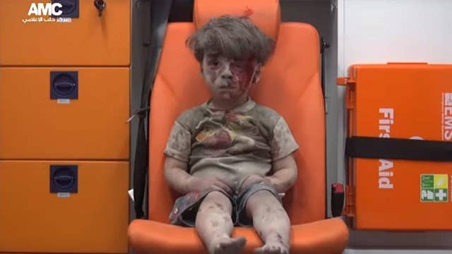 Heartbreaking video of young Syrian airstrike survivor