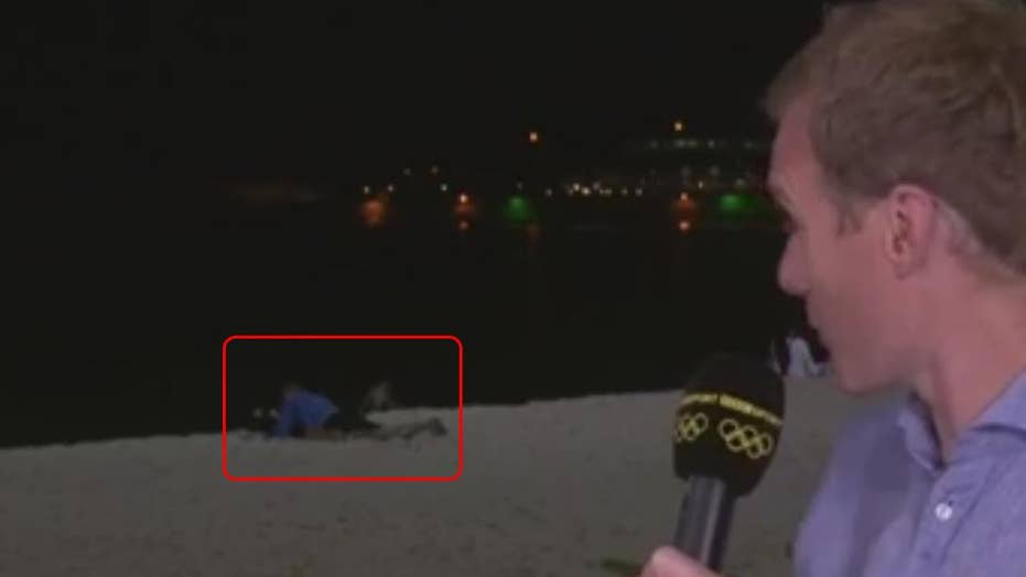 Rio Olympics : People having sex on live report?