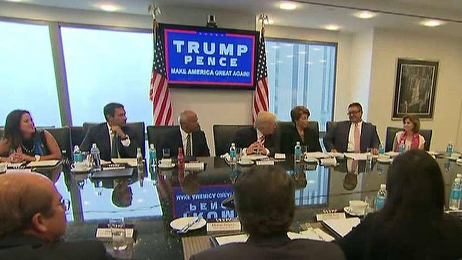 Trump meets with Hispanic leaders in New York City