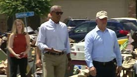 The president's trip to the flood zone was marred by criticism for being long overdue; Kevin Corke reports for 'Special Report'