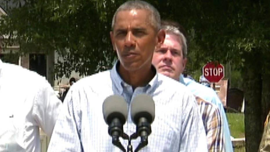 Obama to Louisiana flood victims: 'You're not alone'