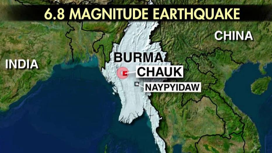 Magnitude 6.8 earthquake strikes Burma