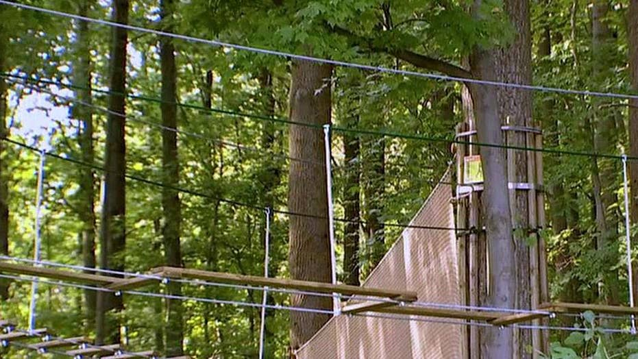 Woman dies after falling 40 feet from a zip line