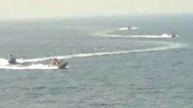 Josh Earnest says U.S. warships were 'operating professionally in international waters'