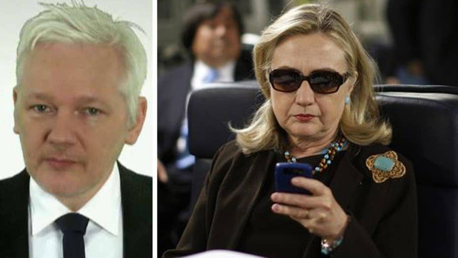 Julian Assange on possible 'October surprise' for Clinton