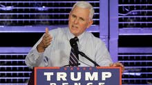 Pence blames media for focusing on Trump immigration policy