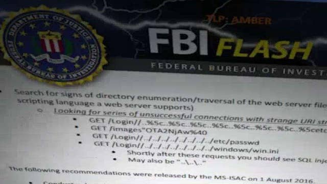 FBI issues 'flash alert' to state election officials