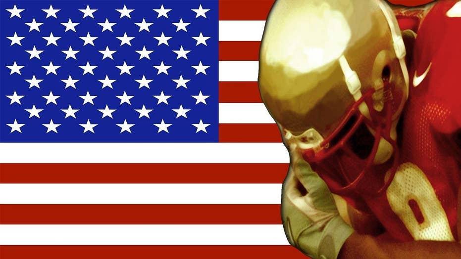 High school bans American flag at football game