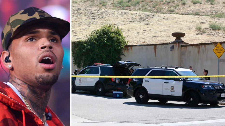 Police respond to incident at Chris Brown's home in LA