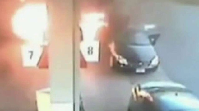 Mother saves her two children from gas station inferno