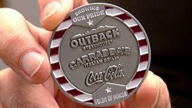 Outback Steakhouse fires up the grill in honor of the troops
