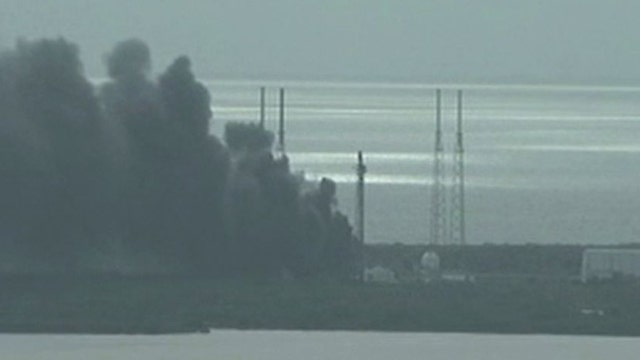 Explosion on launch pad destroys SpaceX rocket, satellite