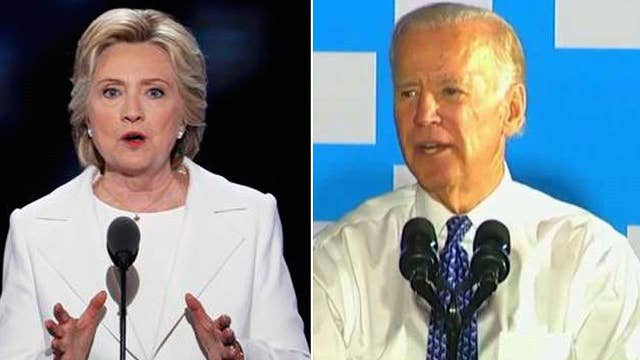 Clinton's optics worsen as Biden, Kaine hit campaign trail