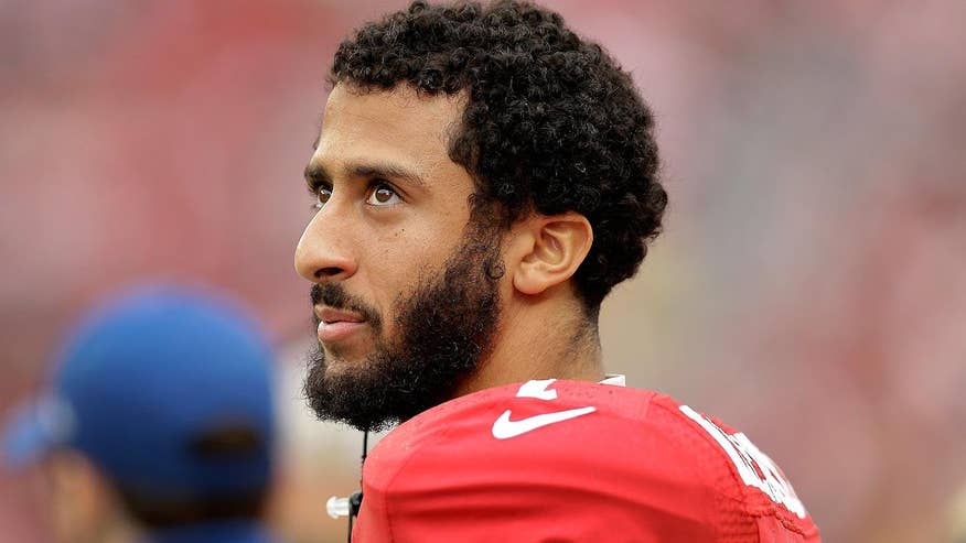 Greta's 'Off the Record': Embattled QB Colin Kaepernick has a first amendment right to protest but he has been an obnoxious, distraction to his team. Topping it all off: Pics surface of him wearing socks portraying cops as pigs