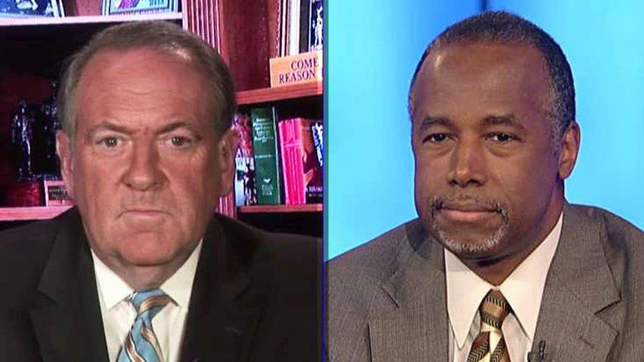 Mike Huckabee and Ben Carson react to FBI report on Clinton