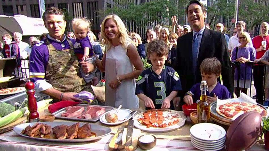 Fox News contributor fires up the grill with some help from his sons