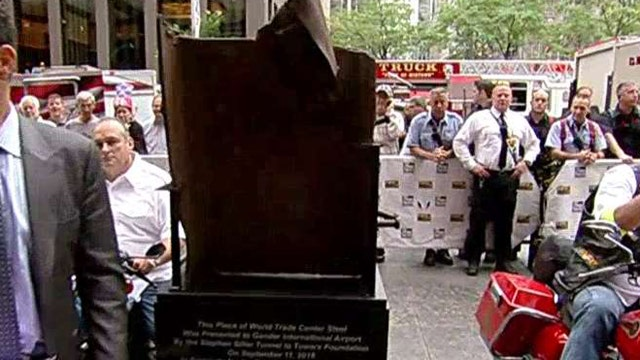 WTC beam begins journey to honor small town