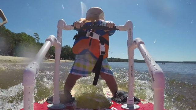 6-month-old stakes claim as world's youngest waterskier
