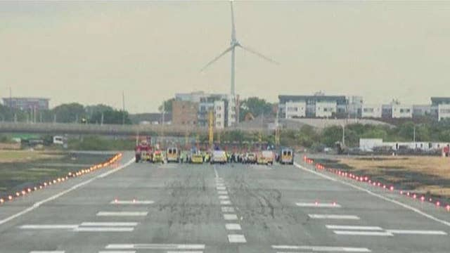 Black Lives Matter protesters block London runway