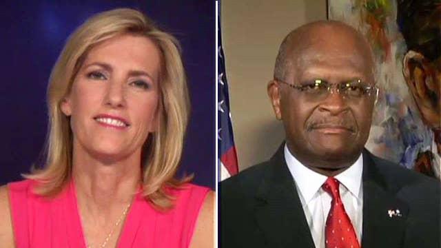 Ingraham, Cain debate about Clinton's health, press