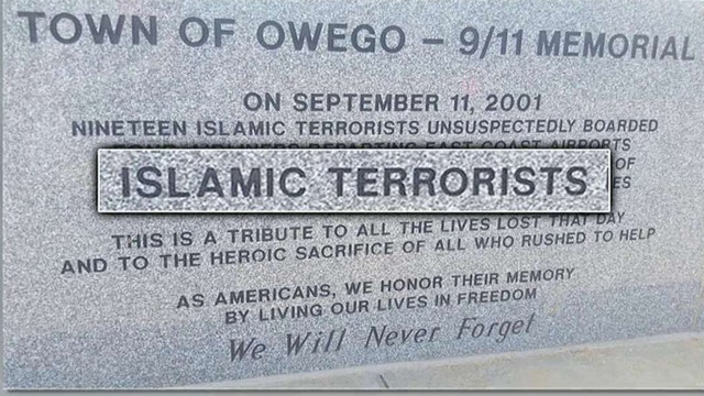 Group wants 'Islamic terrorists' removed from 9/11 memorial