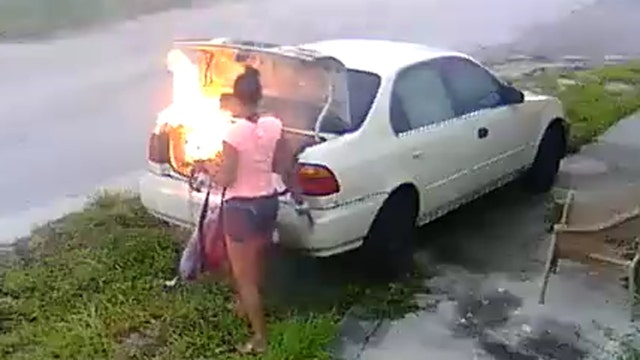 Woman burns car she wrongly thinks belongs to ex-boyfriend