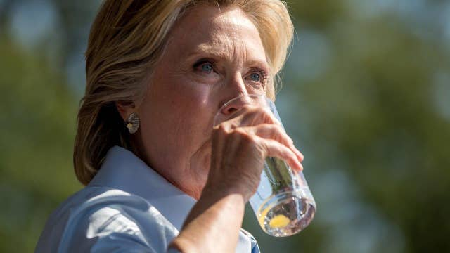 Halftime Report: Clinton's 'need some water-gate' coughing