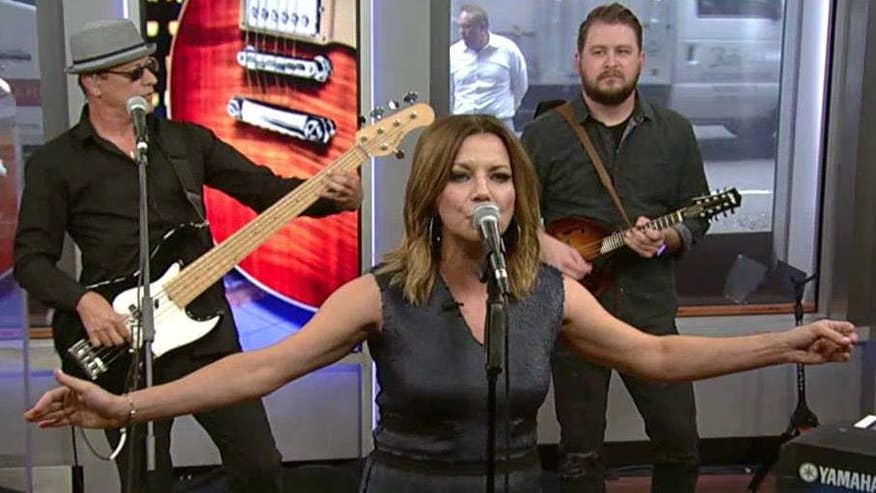 Country music star performs a song from her latest album