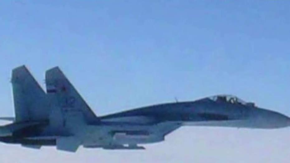 Russian jet buzzes US Navy spy plane