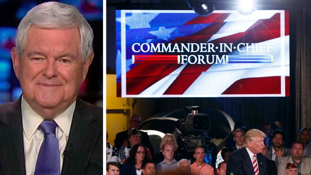 Newt Gingrich reacts to NBC's commander in chief forum