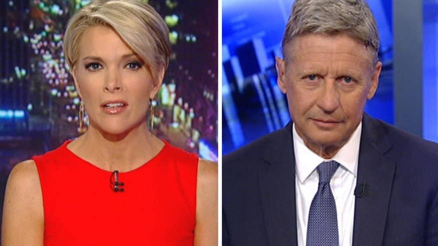 Libertarian nominee pressed to provide a plan for Syria on 'The Kelly File'