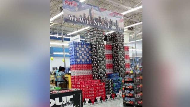 Walmart store's 9/11 Coke can display causes uproar online