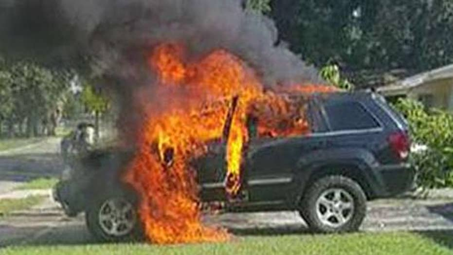 Samsung Galaxy Note 7 blamed for Jeep fire