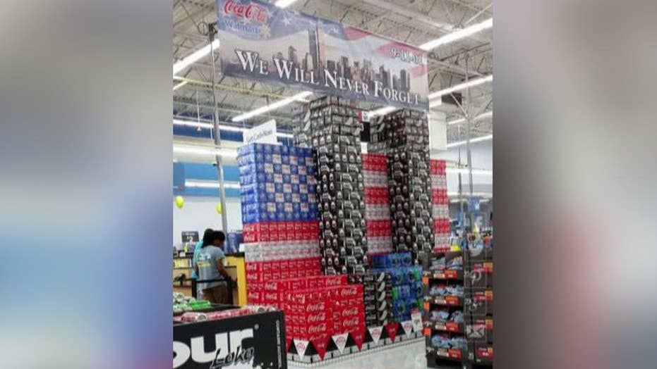 Walmart store's 9/11 Coke can display causes uproar online