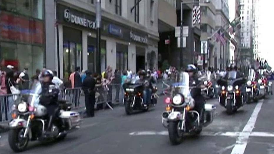 NYPD holds procession in New York to honor 9/11 victims