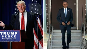 Trump bashes Obama's leadership after China's staircase snub