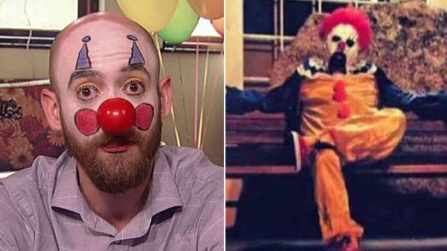 'Dimples the clown' struggling as creepy clowns stalk locals