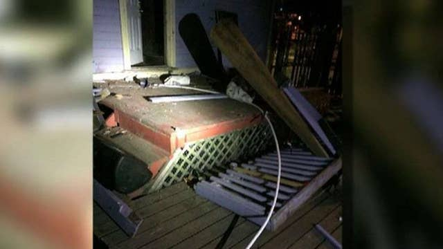 27 college students injured in balcony collapse at party
