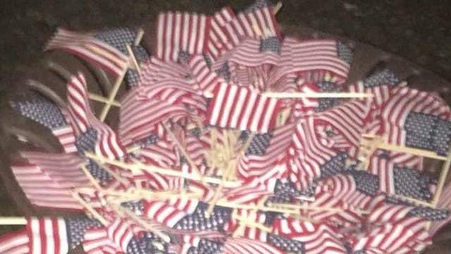 Vandals destroy college's 9/11 memorial