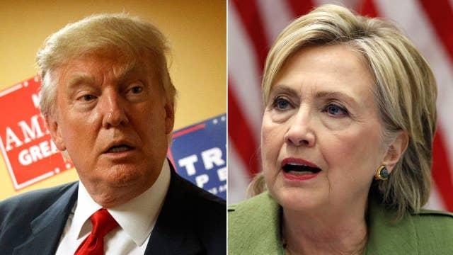 Trump rips Clinton's rhetoric, but not her health scare