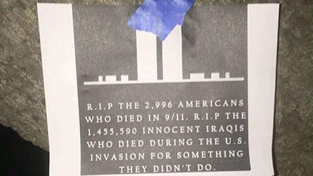 Outrage after vandals destroy 9/11 memorial on campus