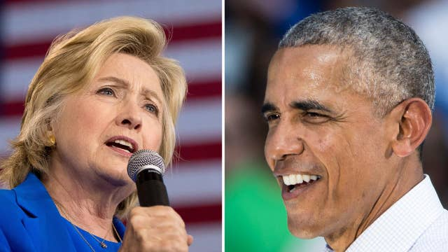 President Obama steps in as Hillary Clinton rests