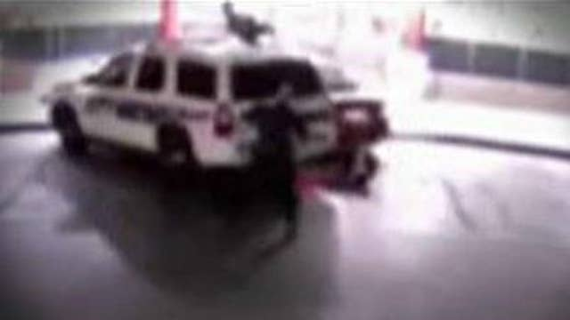 Video shows moment cops are intentionally run over