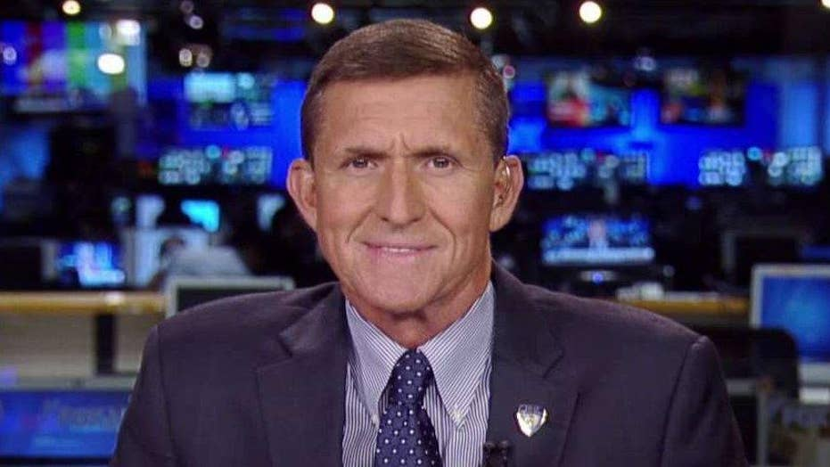 Gen. Michael Flynn reacts to criticisms from Colin Powell