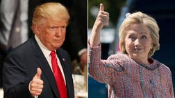 The presidential race is tight.  Hillary Clinton tops Donald Trump by just one point among likely voters in the four-way ballot.  In the head-to-head matchup, Trump's up by one point.