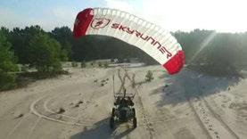 Jon Scott takes the SkyRunner for a test drive