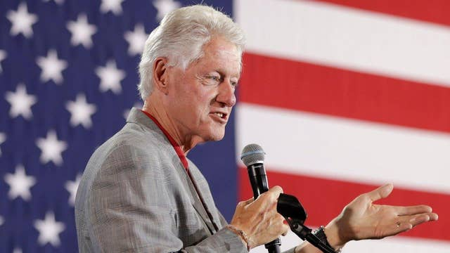 Bill Clinton slips up saying his wife had 'the flu'